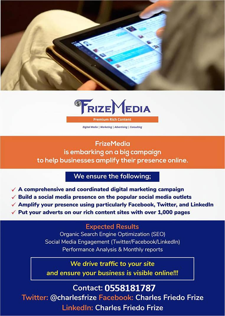 FrizeMedia Ghana - Digital Marketing Online Advertising Consulting